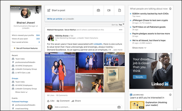 LinkedInlaunches a new way to see and discuss trending news