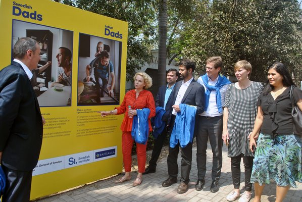 """Swedish Dads – Indian Dads"" a popular photo exhibition makes its India debut at Swedish Avenue"