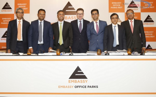 Embassy Office Parks REIT (India's First REIT) to open IPO books on March 18, 2019, and close books on March 20, 2019