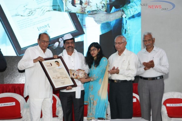 Honorable Senior Literary Mr. N. D. Mahanor honored Shri Nilesh Sambare Sir for the