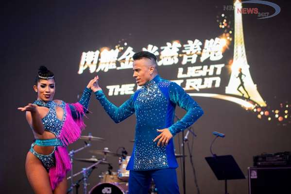The Only Way is Up at 'Light The Night Run' Charity Fun Run at The Parisian Macao's Eiffel Tower