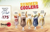 All you need is refreshing Summer coolers at SMAAASH to combat the heat!