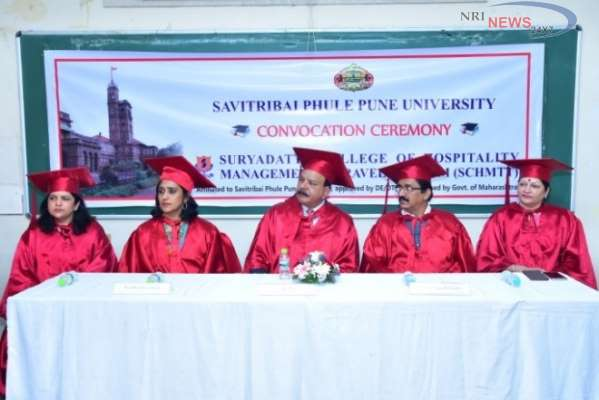 'Go Glocal' says D K Bakshi, CEO, Global Talent Companyat the Convocation ceremony ofSuryadatta College of Hotel Management, Travel & Tourism