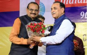 Honorable CM of Gujarat Shri Vijay Rupani graced the 9thedition of Indian Journalist Union in Vadtal, Gujarat