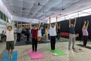 Royal Connaught Boat Club celebrates International Yoga Day with Yoga Workshop