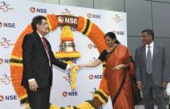 Smt Nirmala Sitharaman Hon'ble Minister of Finance and Corporate Affairs rings Closing Bell at NSE to celebrate 25 years of democratizing Capital Market in India