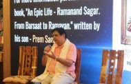 """The book is my putra dharma"", says renowned cinematographer Prem Sagar at the launch of his latest book-a memoir of his father, ""An Epic Life: Ramanand Sagar"""