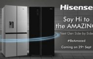 Global appliances giant Hisense announces series of NextGen Side-by-Side Refrigerators in India; to be available 29th Sept 2020 onwards