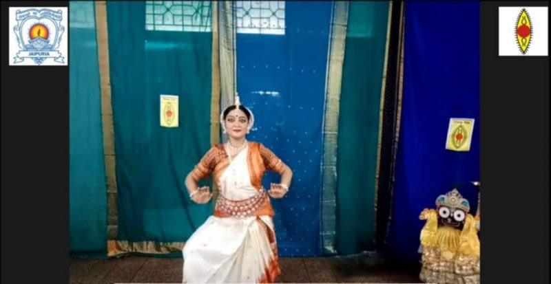 SAJS, VASUNDHARA & SPIC MACAY, GHAZIABAD CHAPTER HOST 1st VIRTUAL LEC-DEM BY KAVITA DWIBEDI, A RENOWNED ODISSI DANSEUSE