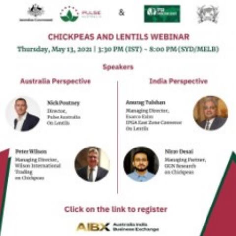 IPGA, PULSE AUSTRALIA, AND AUSTRADE to co-host the IPGA KNOWLEDGE SERIES webinar on Chickpeas and Lentils