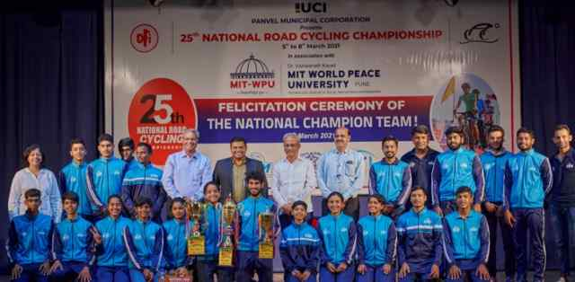 MIT-World Peace University to felicitates champions of 25th National Road Cycling Championships 2021